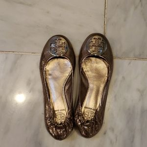 Tory Burch Minnie Travel Leather Ballet Flat